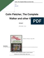 Colin Fletcher the Complete Walker