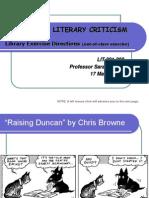 Lit 201 Schools of Literary Criticism