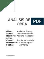 Analisis de La Obra Madame Bovary