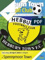 Hebburn Town - Spennymoor Match Programme