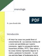 La Fenomenología. Ps. Jaime Botello Valle