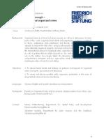 20130129 Agenda Organized Crime