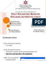Speaker Verification for Remote Authentication