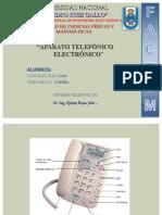 aparato telefonico electronico