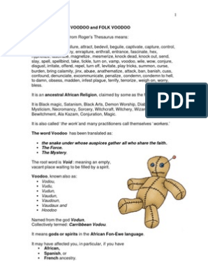 Voodoo-Background-and-Prayer pdf | Haitian Vodou | Book Of