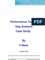 Performance Testing Gap Analysis Case Study