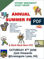 12th Berkswich Scout Group - 2013 Summer Fair Flyer
