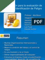 Planificación para la evaluación e identificación de Peligro terminado