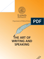 The Art of Writing and Speaking