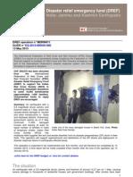 India Jammu and Kashmir Earthquake MDRIN011dref