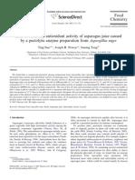 Perdidas de Rutina y Actividad Antioxidante en Jugos de Sparragos Causados Por Enzima Pectolica