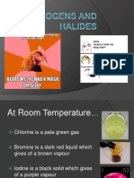 Halogens and Halides