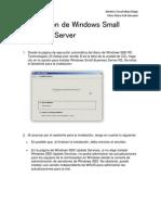 Instalacion de Windows Small Business Server