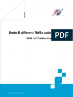4.4.4 Node B Different RABs Calculation
