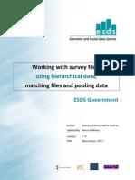 hIERARHICAL DATA Workingwithsurveyfiles