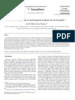 Recientes Descubrimientos en Analisis Instrumental en Analiis de Alimentos