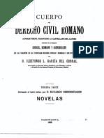Cuerpo Del Derecho Civil Romano - Tercera Parte