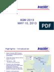 Corridor Resources 2013 AGM slides