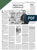 2011 04 13 Diari de Terrassa Jordi Ojeda Los cómics deben tener su sitio en las bibliotecas