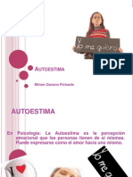 Miriam Zamano, Autoestima