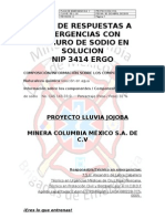 Plan de Respuesta a Emergencias Con Cianuro Marzo 2013