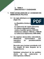 TEMA 9 - RÉGIMEN DEMOCRÁTICO Y CIUDADANÍA