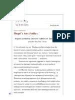 Hegel's Aesthetics- Lectures on Fine Art