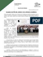 04/12/11 Germán Tenorio Vasconcelos Celebra SSO día del químico con jornada académica