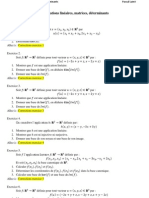 Exercices Corriges Application Lineaire Et Determinants