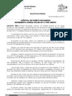 20/12/11 Germán Tenorio Vasconcelos incrementa Hospital de Puerto Escondido Consultas en Un 75 Por Ciento