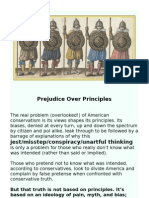 Prejudice Over Principles