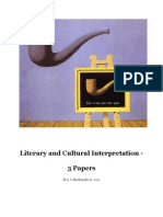Literary and Cultural Interpretation 3 Papers