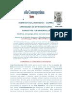 HISTORIA DE LA FILOSOFÍA J. P. Sartre