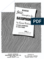 Basic Jazz Conception for Saxophone Vol 1