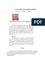 Lobatchewsky, the origins of non-Euclidean geometries