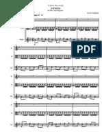 Albeniz - Asturias - Arr for Flute, Viola & Guitar Trio - Score