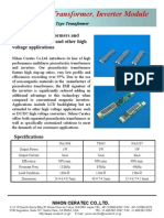 Piezoelectric Transformers and Inverters for CCFL and other high voltage applications