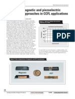 Comparing magnetic and piezoelectric transformer approaches in CCFL applications
