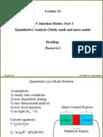 Lecture14 P-n Junctions 4 - Quantitative