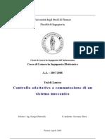 Tesi di Ingegneria elettronica/automazione - Controllo adattativo a commutazione di un sistema meccanico