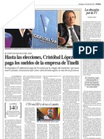 Cristobal López paga sueldos de Tinelli