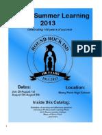 2013 Summer Pd Catalog