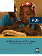 AID Effectiveness in Education Crisis