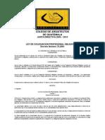Ley de Colegacion Profesional Obligatoria