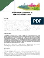 KREO International Program in Innovation Leadership1