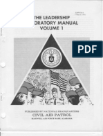 1981 CAPM 50-3 Civil Air Patrol Leadership Laboratory Volume 1