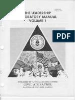 1981 CAPM 50-3 Civil Air Patrol Leadership Laboratory Volume 1