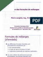 Verification Formule de Melange