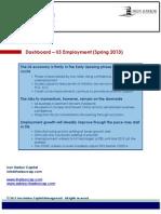 Dashboard - US Employment Spring 2013