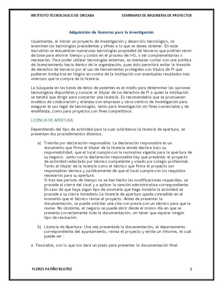 Adquisición De Licencias Para La Investigación